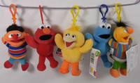 Red sesame street - Hot sell quot Colorfully Sesame Street Elmo Stuffed Plush Dolls Toys Keychain