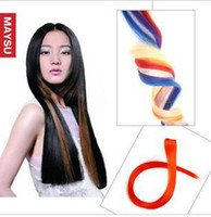 Wholesale Highlight Single Clip in Hair Extension hair extensions quot green red g pc QASD