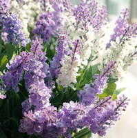 Wholesale 10pcs simulation flower artificial flowers single lavender wedding White lavenders home decoration