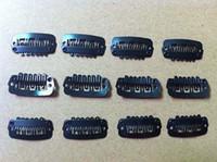 Wholesale 6000Pcs cm Black Brown Beige Silver Carbon Steel Clips For Hair Extensions Wig Clip Toupees Clips