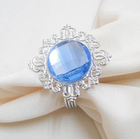 Wholesale Tracking number high quality Light Blue Gem Napkin Ring Wedding Bridal Shower Favor