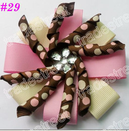 free shipping 80ps diamond flower korker hair bows layered korker hair bows korker hair clips