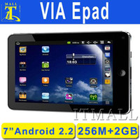 Wholesale 7 quot Android VIA8650 Epad Tablet PC Foryo G Flash Android Marker Wifi G Resistive screen