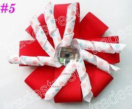 New boutique bows 35ps diamond flower korker hair bows layered korker hair bows korker hair clips