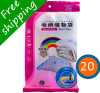 Wholesale 20pcs plastic small vaccum Compressed bags space saving storage bags Vacuum Seal Compressed Organizer Package SN04B