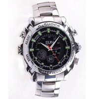 Wholesale 16GB Waterproof P IR Stainless steel Spy Watch DVR Support Night Vision