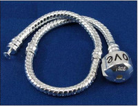 Women's snake bracelet - mm LOVE Snake Chain Bracelets Fit European Beads CM and cm fashion jewelry