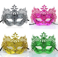 Wholesale Dance Mask Venetian Sexy Coloured Mask For Christmas Carnival Halloween Masquerade Dance Party Masks