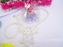 Wholesale 2011 fashion Bridal Pearl Necklace earrings Necklace Starfish Earring jewelry sets g