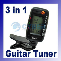 Wholesale 3 in Violin Guitar Metronome Tone Generator Digital Tuner EMT rotating display