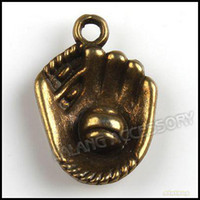 Wholesale 21mm Baseball Glove Pendant Alloy Vintage Bronze Jewelry Pendants Accessories