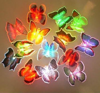 Wholesale 96pcs LED Butterfly light Colorful Fiber Butterfly Light LED Night Light Christmas gifts