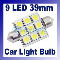 Wholesale 39mm SMD LED Festoon Dome Car Bulb Light Lamp Super Bright White LED For Universal CAR