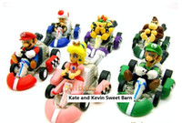 Super Mario Bros. Kart PULL BACK Car Figures 6pcs 50set lot ...