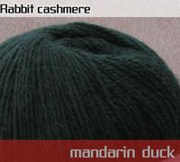 Cheap 10 balls Luxury Rabbit Hair Cashmere yarn 500g #04 Dark green