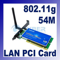Wholesale 54Mbps b g PCI Desktop WiFi Wireless LAN Card Network Adapter External Antenna