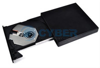 Wholesale Black USB External Ultra Slim Drive Portable Optical CD DVD ROM Drives For Laptop PC
