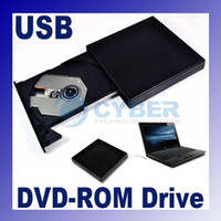 Wholesale USB External DVD ROM Drive Slim Portable Optical Driver For Laptop PC Black