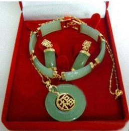 Charm Jade Collier Boucles link Bracelet sets