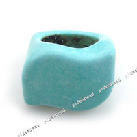Wholesale 4PCS S Shape Natural Gemstone Turquoise Men s Rings Fashion Finger Ring Handcrft
