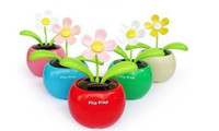 Hot Selling! Novelty Flip Flap Solar Powered Flower Flowerpo...