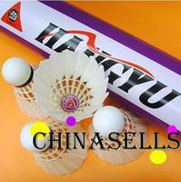 Wholesale Genuine HANGYU NO badminton shuttlecock badminton shuttlecocks durable balls Competition level