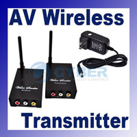 Wholesale 2 GHz Wifi Wireless Audio Video AV FMTransmitter Receiver Sender For DVD CCTV Channels Black