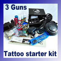 Wholesale professional Complete Tattoo Machine Kit Guns Power Supply Set Equipment Brand New