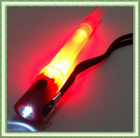Wholesale Multi function LED signal bar glow stick flashlight and whistling with batteries party use