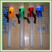 Wholesale Multi function LED signal bar glow stick flashlight and whistling with batteries hot sale