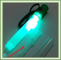 Wholesale Multi function LED signal bar glow stick flashlight and whistling with batteries Retails