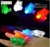 Wholesale 100Pcs Party Lighting finger LED light laser finger beam Light up finger ring laser lights colors