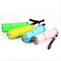 1 X AA Other LED Flashlight Wholesale - - 50pcs lot New 9 LED UV Ultraviolet Flashlight Light Lamp Torch