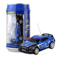 Wholesale 10pcs Blue Coke Can Mini RC Radio Remote Control Racing Car