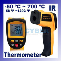 Wholesale Centigrade LCD Infrared Laser IR Digital Thermometer Gun Non Contact Industrial Black amp Yellow