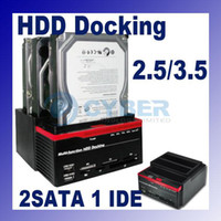 Wholesale 2 quot quot x SATA x IDE HDD Docking Dock Station Clone USB HUB Multi Function