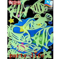baby shrimp - Baby Kid Gift Glow In The Dark Shrimp and Fish Stickers Bedroom Decor sets