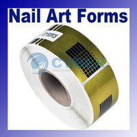 Wholesale Nail Form Art Roll Golden Nail Form Art Tip Extension Forms for Acrylic UV Gel Professional