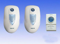 Wholesale 2 Wireless Digital Doorbell Smart Remote Control V003A2 with Music White amp Blue