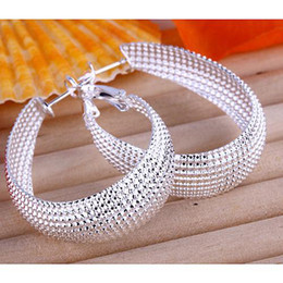 Wholesale factory price fashion silver earrings charms Perfect Special price earring jewelry best Christmas gifts E064
