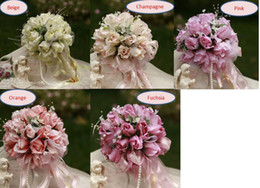 Wholesale Small Bride Bouquet Wedding Bouquets Artifical Flowers Wedding favors Beige Ivory Champagne Pink