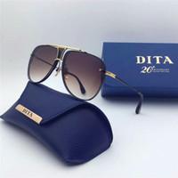 beige design - Dita sunglasses new dita Decade Two sunglasses women brand designer metal square shape retro men design Usher oversize gold plated