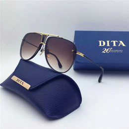 Wholesale Dita sunglasses new dita Decade Two sunglasses women brand designer metal square shape retro men design Usher oversize gold plated