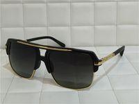Wholesale HOT Dita sunglasses new model DITA mach four Semi metal frame and K gold shinyplate collocation titanium summer style