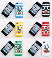 50pcs lot 2011 New Cartoon rabbit silicon Case for iphone 4 ...