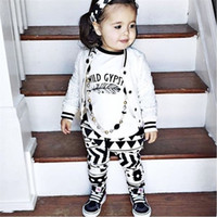 Wholesale Boys Girls Baby Childrens Clothing Sets Cotton tshirts Harem Pants Set Cute Cartoon Printed Kids Clothes Outfits Boutique Clothing