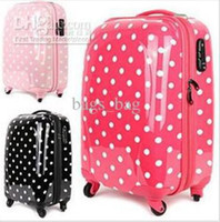 Wholesale ABS PC explosive fashion models to sell Dot Trolley Case luggage suitcase lock with TS
