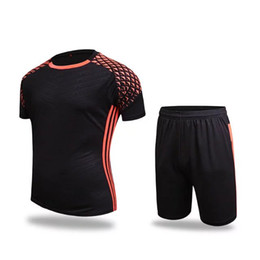 Wholesale Hot sale Men fitness wear Sports Clothing athletic sets Jogging kits Football Print Breathable Soccer jersey