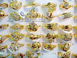Wholesale Fashion Jewelry Rings Jewellery Mix Gold Plated Australia Rhinestone Women s Rings CZ51