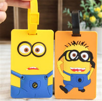 big luggage tags - Key Chain Bag Phone Decorations Toys Yellow People Cartoon Style Luggage Tags Silicone Birthday Gift Mixed Package